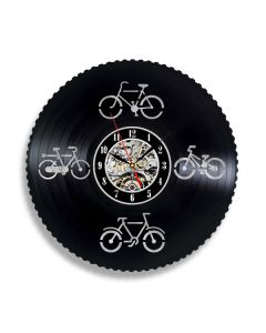 Gift for Cycling Lover Vinyl Record Clock