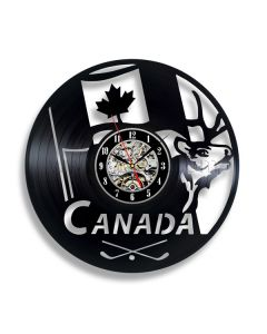 Gift for Canadian Friend Vinyl Record Clock