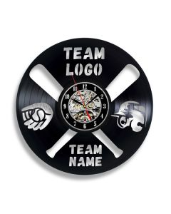 Personalized Gift for Baseball Player Vinyl Record Clock