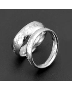 Personalized Engraved Matching Promise Rings for 2