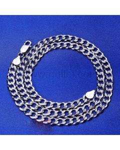 Mens Thick Chain Necklace Sterling Silver 50cm