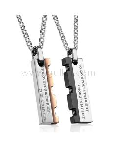 Custom Name Relationship Couples Necklaces Set