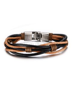 Leather Braided Rope Wrap Bracelet for Guys