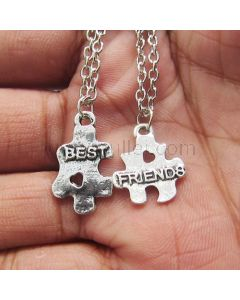 Puzzle BFF Necklaces Birthday Gift Set for 2