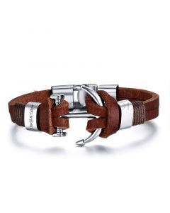 Mens Personalized Leather Bracelet for Guys
