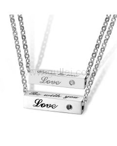 Couple Relationship Necklaces Birthday Gift Set