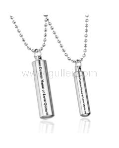 Secret Message Pill Couples Relationship Jewelry Gift