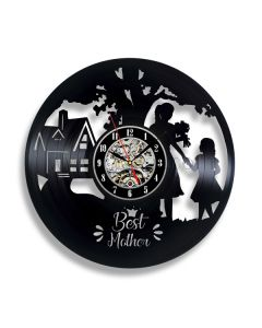Personalized Mothers Day Gift Vinyl Record Clock