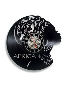 Gift for African Friend Vinyl Record Clock