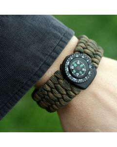 Survival Whistle Paracord Bracelet Gift for Camping Lovers