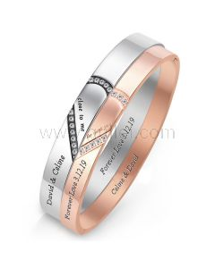 Promise Couple Bracelets with Names Engraved