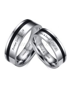 Couple Wedding Rings with Custom Engraving