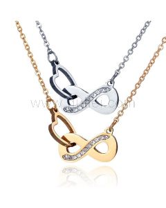 Engraved Infinity Necklaces Gift for Girlfriend Boyfriend