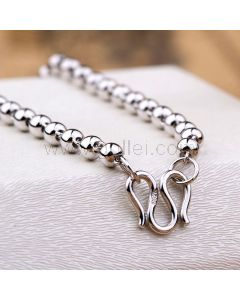 Mens Ball Chain Necklace Sterling Silver
