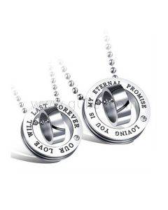 Matching Custom Name Necklaces Set for Girlfriend and Boyfriend