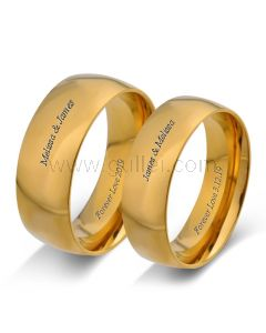 Customized Engraved Promise Anniversary Rings Set