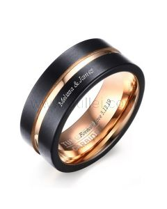 Tungsten Promise Ring Anniversary Gift for Him 8mm