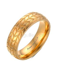 Customized Tire Shaped Guys Ring 6mm