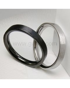 Custom Name Silver Matching Unisex Wedding Bands for 2