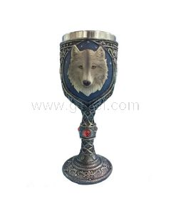 Wolf Ceramic Steel Goblet Cup