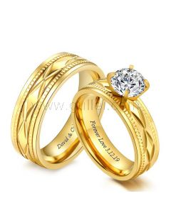 Matching His and Hers Rings Gift for Couple