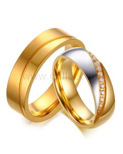 Engraved Titanium Similar Rings for Two People