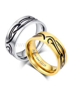 Matching Engraved Couple Rings Anniversary Gift