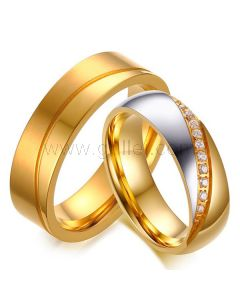 Engraved Titanium Wedding Rings for Couples