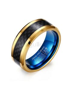 Tungsten Personalized Mens Ring Christmas Gift 8mm