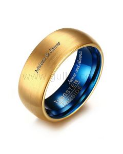 Engraved Tungsten Guys Promise Ring Christmas Gift 8mm