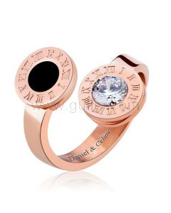 Rose Gold Plated Promise Ring or Her