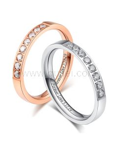 Engraved Matching His and Hers Rings Set
