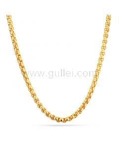 Chain Necklace for Mens Gold Plated Stainess Steel