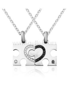2 Piece Jigsaw Puzzle Promise Necklaces for Couples
