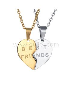 Custom BFF Necklaces Birthday Gift Set for 2