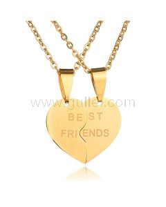 Engraved BFF Pendants Necklaces Birthday Gift Set