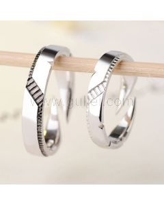 Expandable Wedding Rings Set for Thick Knuckles