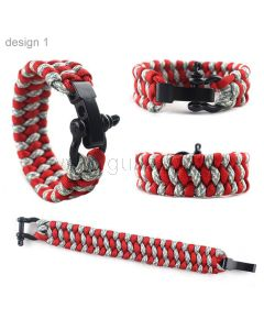 Survival Paracord Bracelet Gift for Camping Lovers