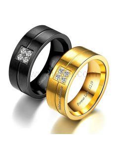 Matching Men and Women Promise Rings for 2