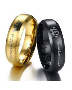 King and Queen Crown Anniversary Rings Set 6mm