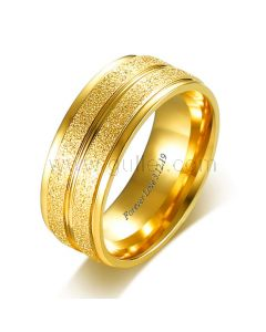 Engraved Commitment Ring for Him Titanium 8mm