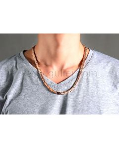 Mens Chain Necklace Stainess Steel Energy Magnets
