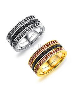 Personalized Engraved Wedding Ring for Him 9mm
