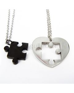 Missing Piece Heart Relationship Couples Necklaces Gift