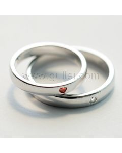 Hearts Adjustable Couples Promise Rings with Names Engraved
