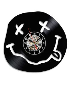 Funny Smiley Decorative Christmas Gift Vinyl Clock for Bedroom