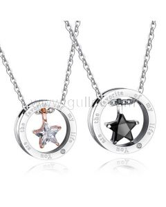 His and Her Couple Necklaces Birthday Gift
