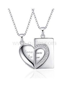 Forever Love Unique Couples Jewelry Silver Set for Soulmates