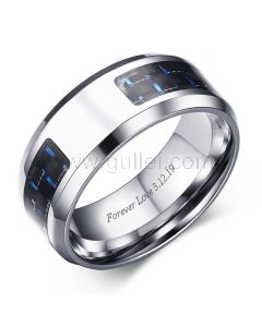 Boys Promise Ring with Custom Engraving 8mm
