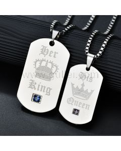 His Hers King Queen Crown Couples Promise Jewelry